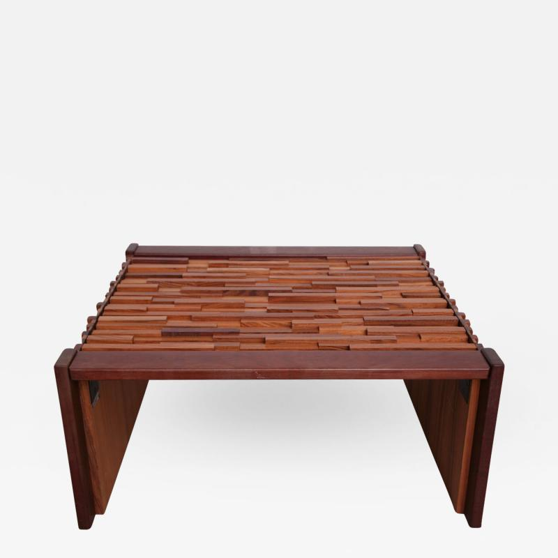 Percival Lafer Pair of Brazilian Mixed Wood Low Tables