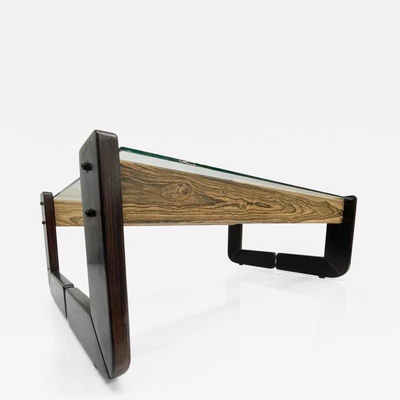Percival Lafer Percival Lafer Coffee Table Brazilian Mid Century Modern Wood Glass