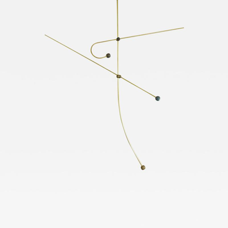 Periclis Frementitis Brass Sculpted Light Suspension Lets Talk by Periclis Frementitis