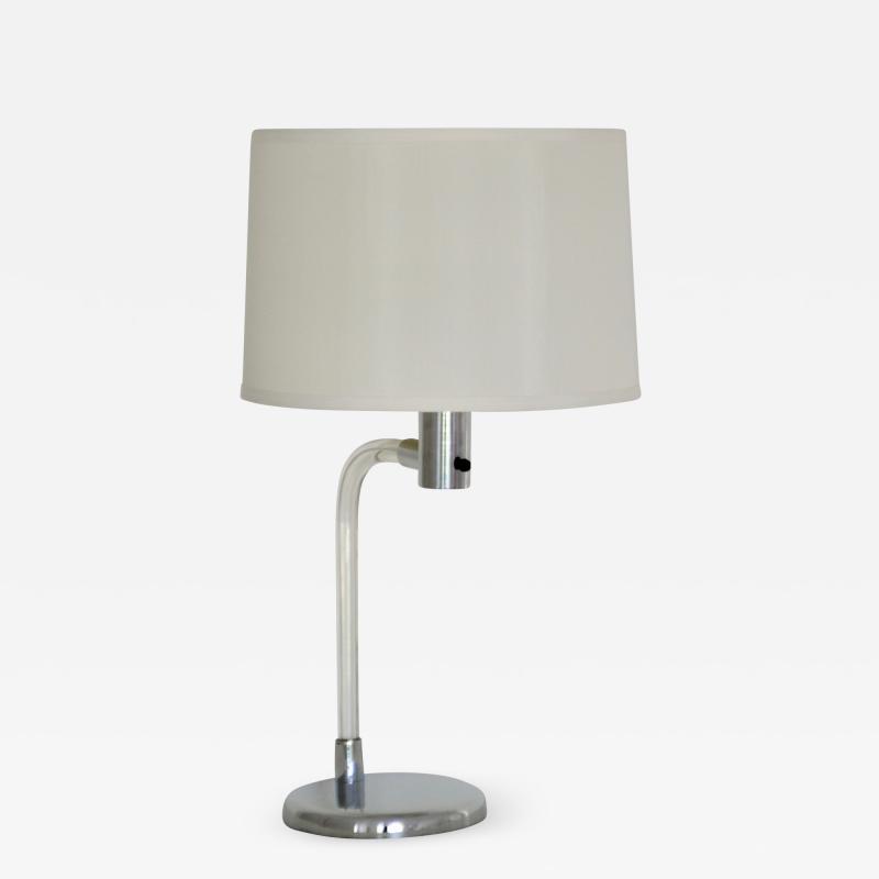 Peter Hamburger Mid Century Lucite Table Lamp