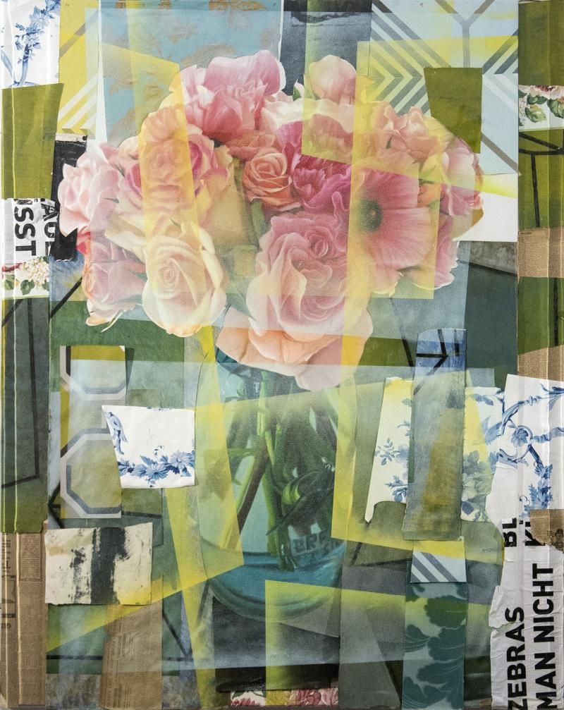 Peter Hoffer Arrangement With Pink Roses