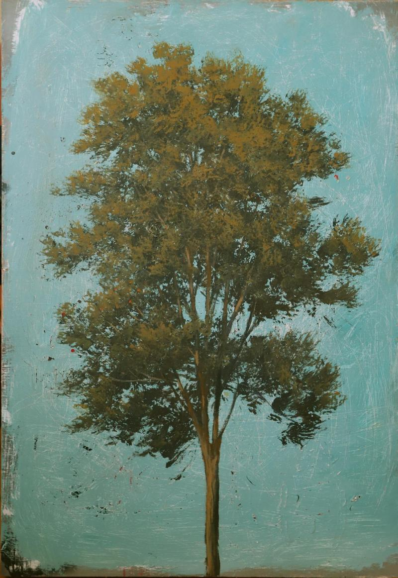Peter Hoffer Tree with Aqua