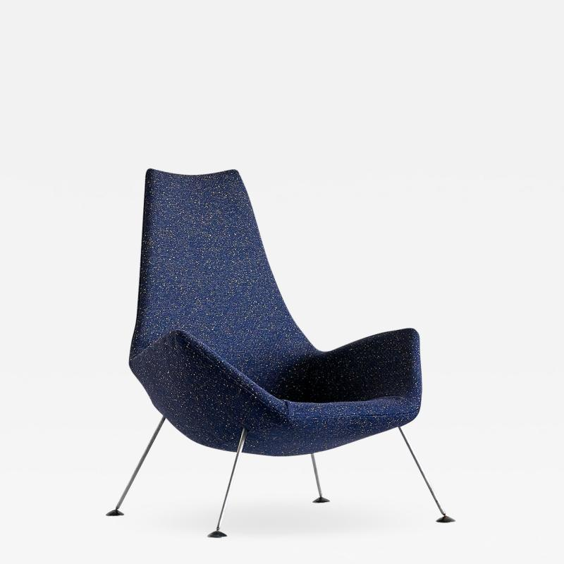 Peter Hoyte Peter Hoyte Lounge Chair in Blue Raf Simons Boucl Fabric United Kingdom 1960s