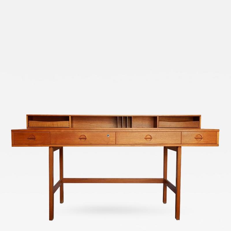 Peter Lovig Nielsen Danish Modern Teakwood Flip Top Table Desk by L vig of Denmark