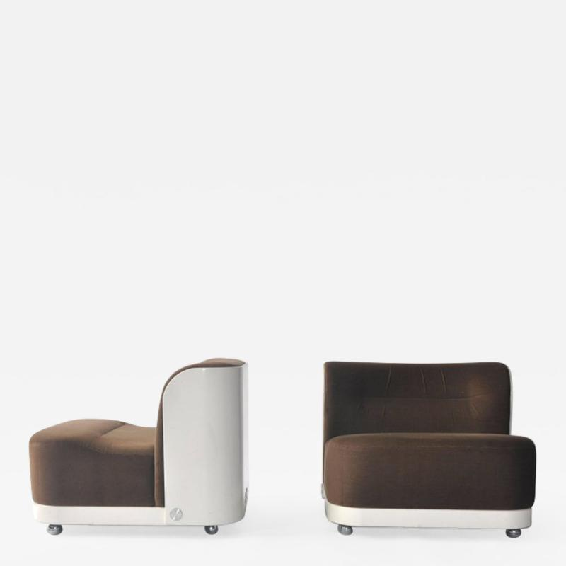 Peter Maly Pair of Trinom Lounge Chairs by Peter Maly