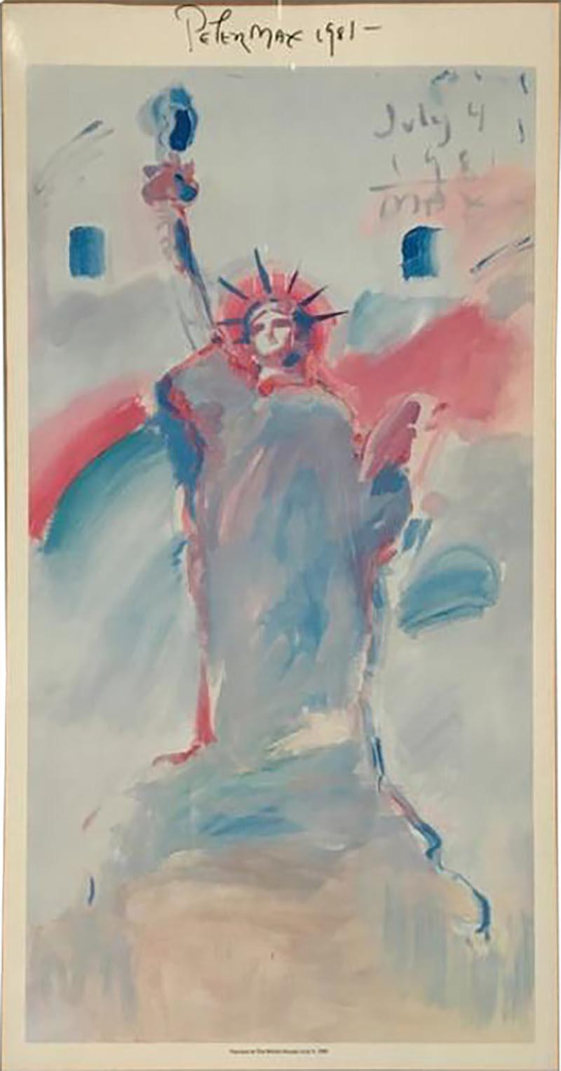 Peter Max Statue of Liberty Poster by Peter Max from 1981