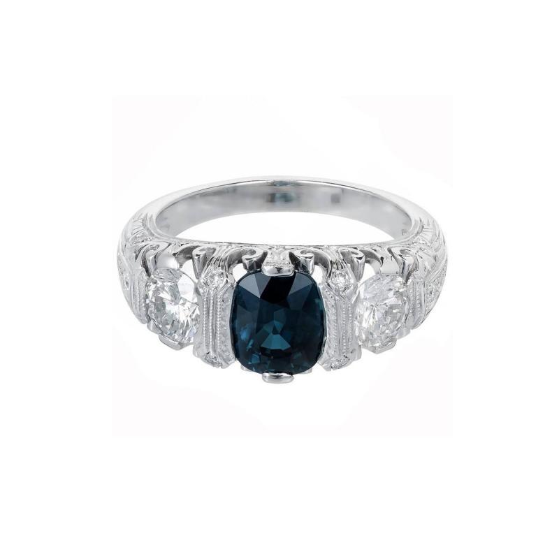 Peter Suchy Peter Suchy 2 30 Carat Natural Sapphire Diamond Platinum Engagement Ring