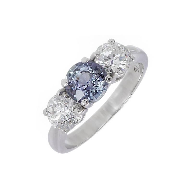 Peter Suchy Peter Suchy GIA Certified 1 05 Carat Sapphire Diamond Engagement Ring