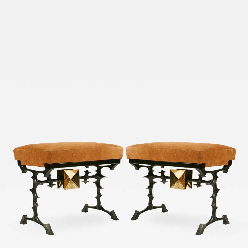 Peter Van Heeck Pair of stools