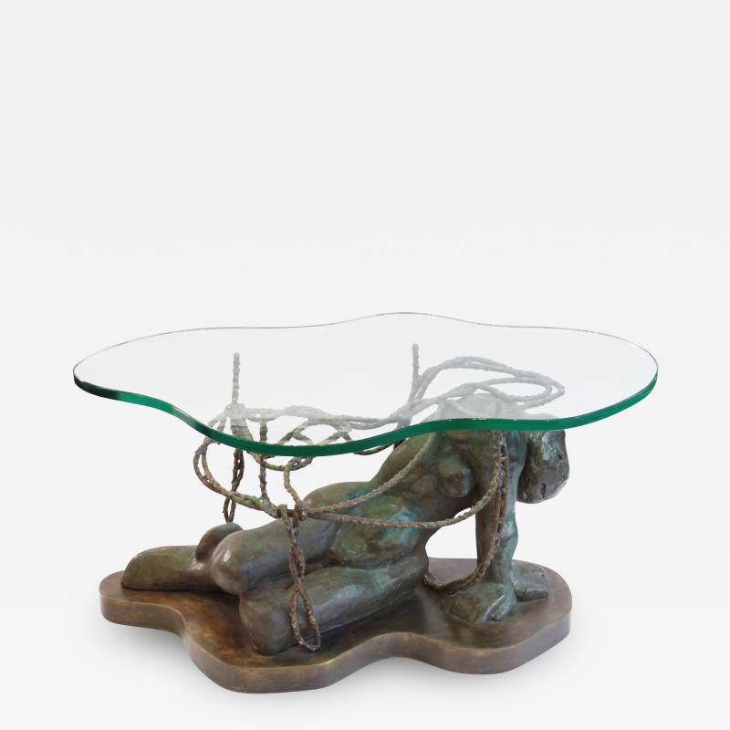 Philip Kelvin LaVerne Philip Kelvin LaVerne Persephone Enslaved Sculpture Coffee Table 1970s
