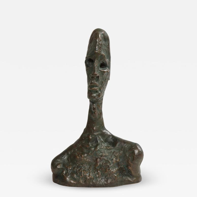 Philip and Kelvin LaVerne Giacomettis Soul Bronze Bust by Philip Kelvin Laverne