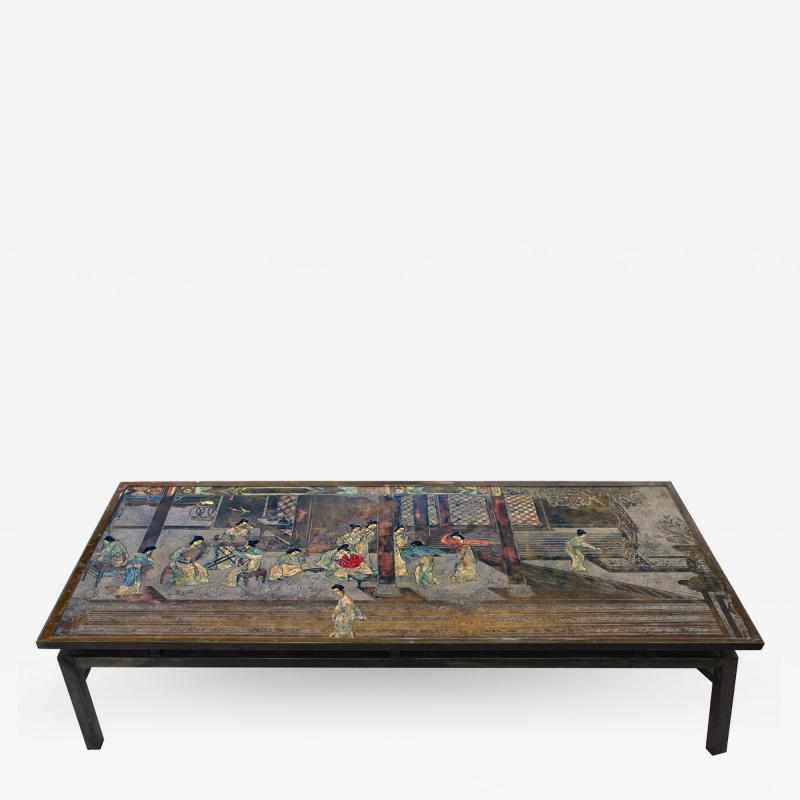 Philip and Kelvin LaVerne Philip Kelvin LaVerne Large Chin Ying Coffee Table 1960s signed