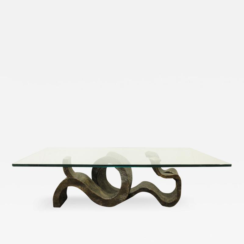Philip and Kelvin LaVerne Philip Kelvin LaVerne Rare Wave Crest Coffee Table 1972 Signed