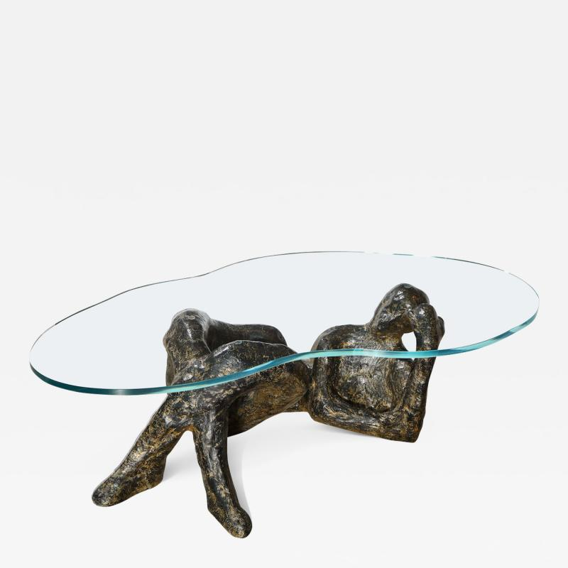 Philip and Kelvin LaVerne Reclining Nude Low Table by Philip Kelvin LaVerne
