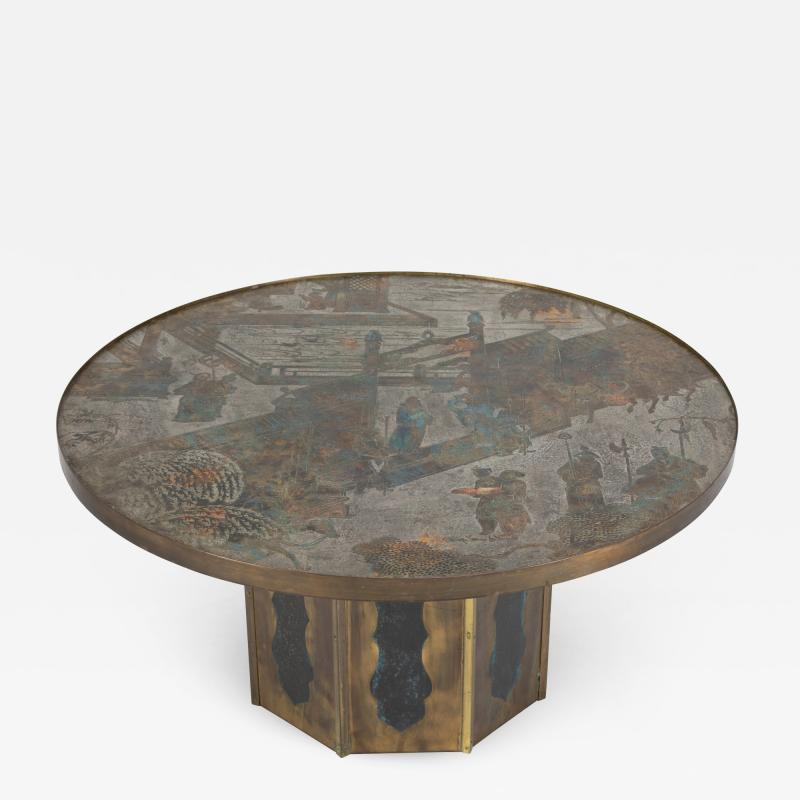 Philip and Kelvin LaVerne Signed Chan coffee table by Philip and Kelvin LaVerne circa 1960s