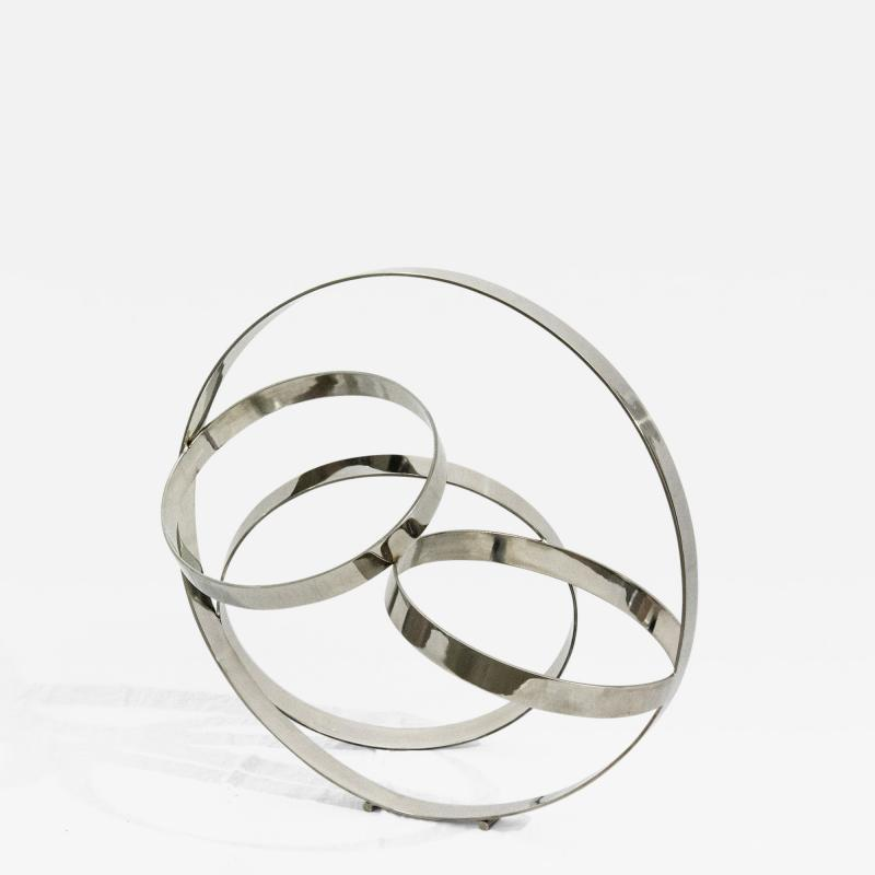 Philippe Pallafray Four Ring Polished Stainless Steel Temps Zero