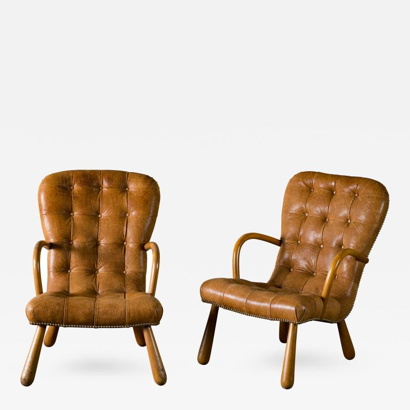 Phillip Arctander Pair of Armchairs in the Style of Phillip Arctander