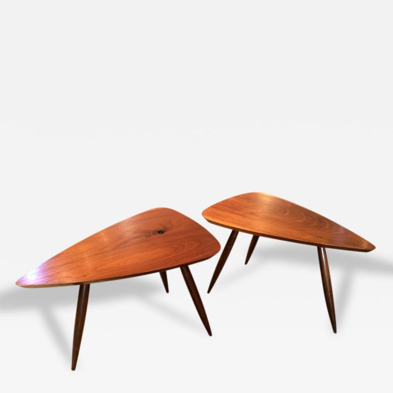Phillip Lloyd Powell Two Walnut Table Studio