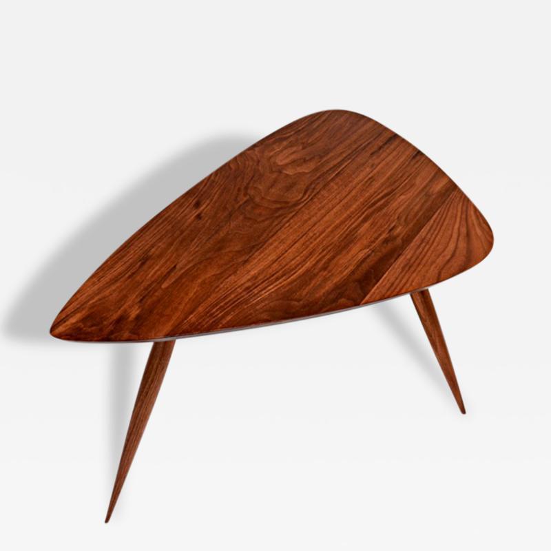 Phillip Lloyd Powell Walnut Side Table