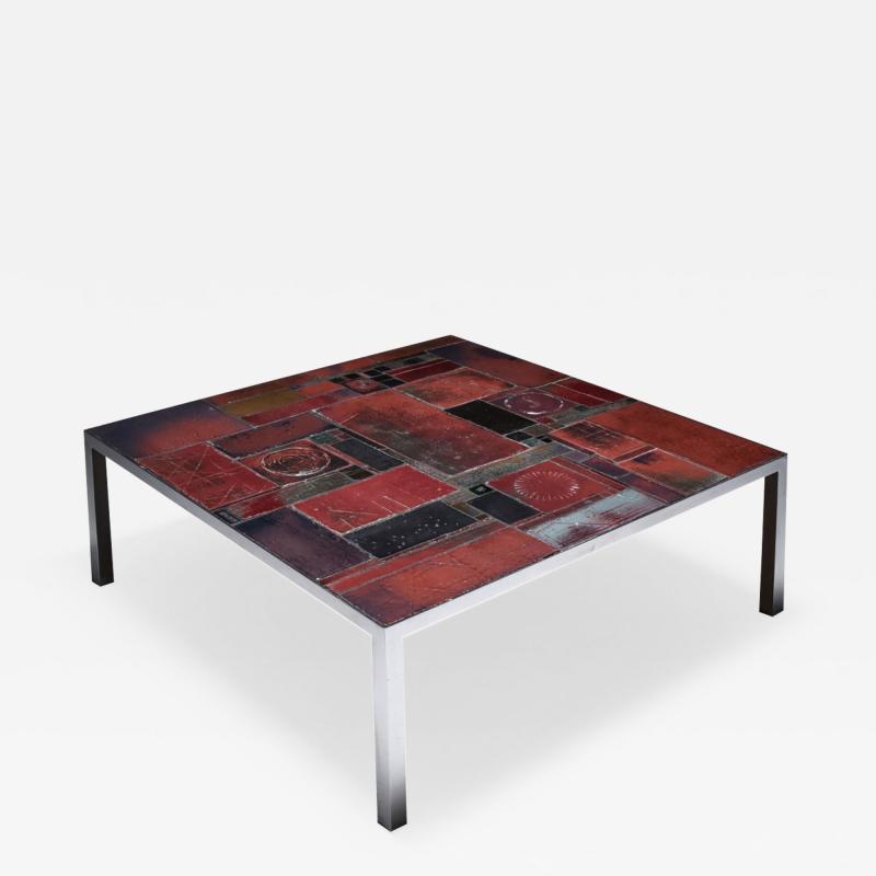 Pia Manu Pia Manu ceramic tile coffee table 1960s