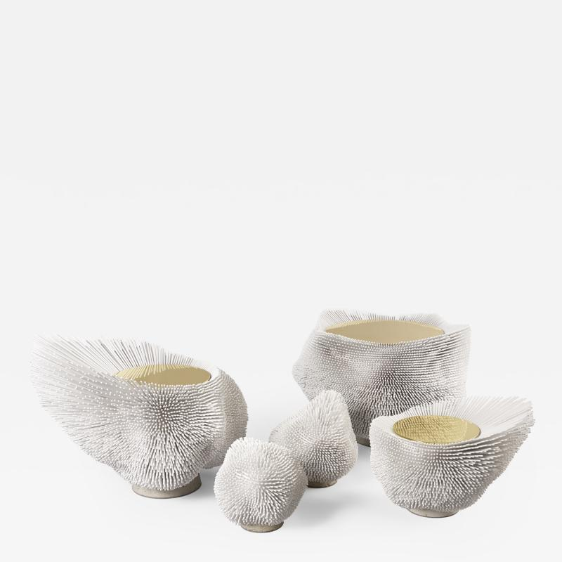 Pia Maria Raeder Sea Anemones Family Three Tables and Two Sculptures