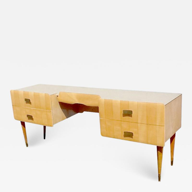 Pier Luigi Colli 1950s Pier Luigi Colli Vintage Italian Design Desk in Ashwood