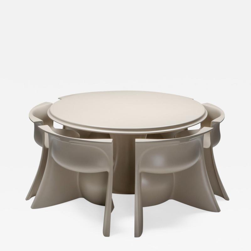 Pierluigi Spadolini Spadolini post modern Boccio dining set for 1P 1970s
