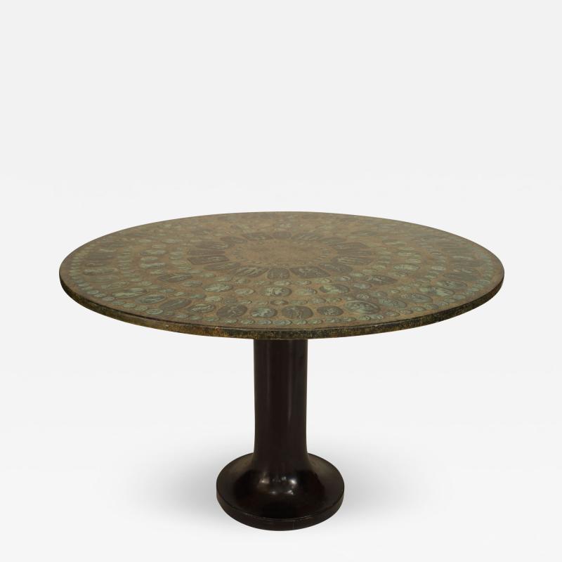 Piero Fornasetti Italian 1950s Center Dining Table