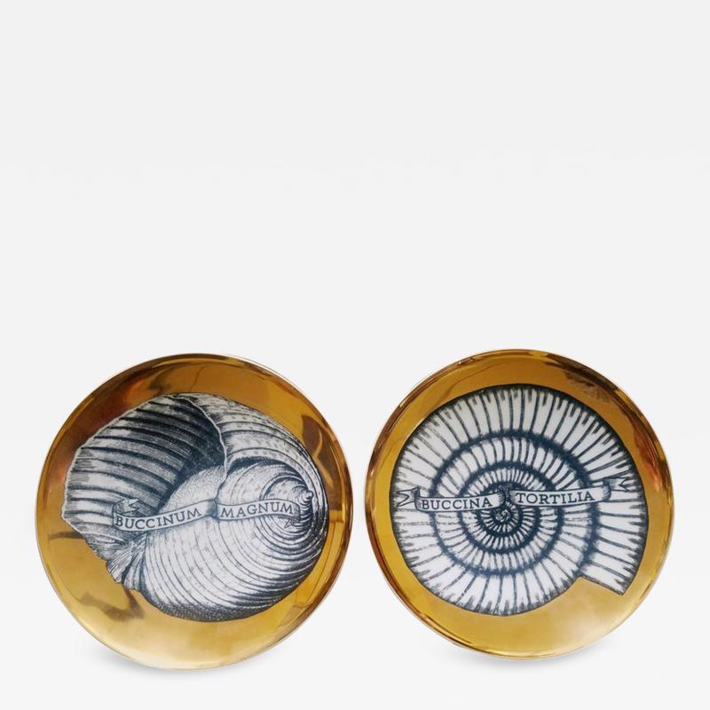 Piero Fornasetti Piero Fornasetti Porcelain Seashell Porcelain Plates