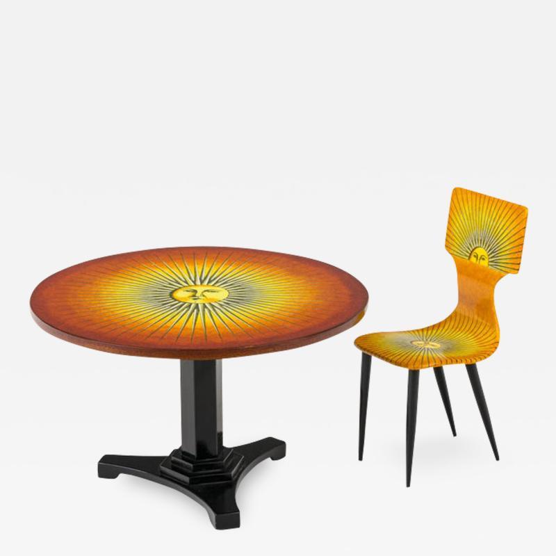 Piero Fornasetti Piero Fornasetti Prototype Miniature Sole Chair Table