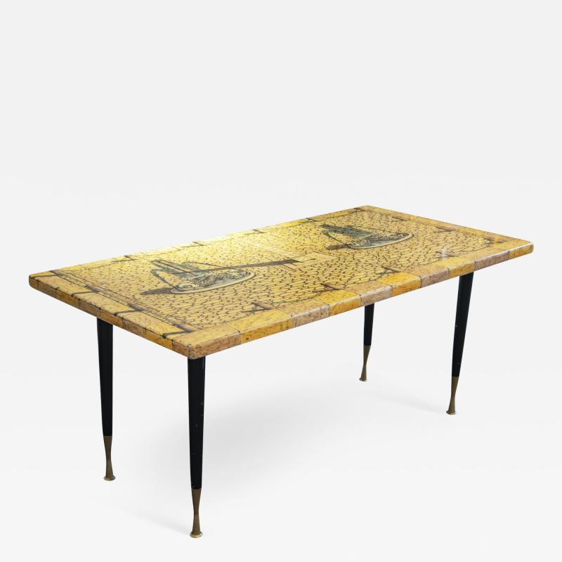 Piero Fornasetti Side table with printed wood