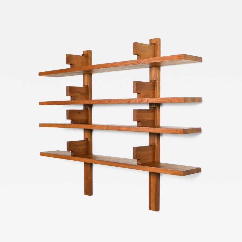 Pierre Chapo Chapo B17 book shelve in solid French Elm 1960s
