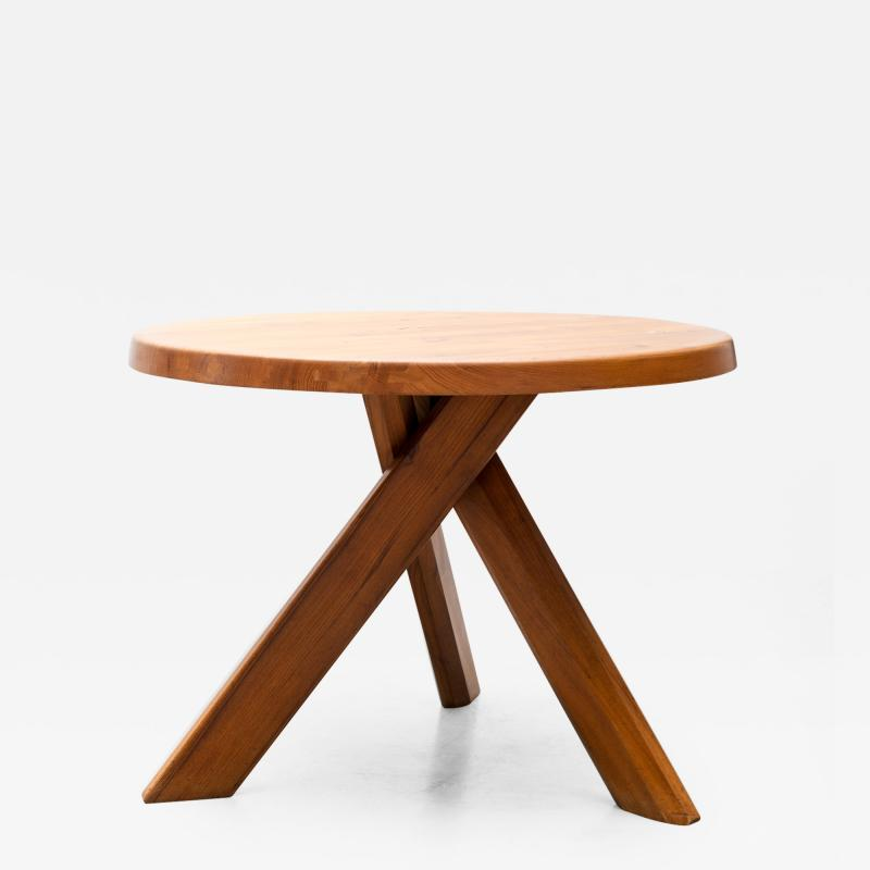 Pierre Chapo Pierre Chapo Model T21 Dining Table in Solid Elm France 1960s