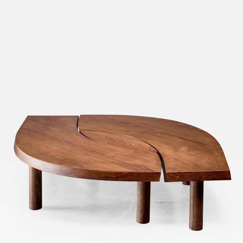 Pierre Chapo Pierre Chapo T22 LOeil coffee table in pine 1960s