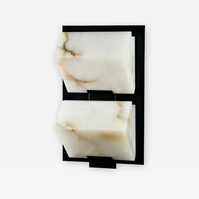 Pierre Chareau Block Single Metal 230 Wall Sconce