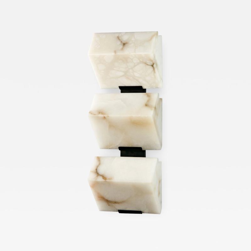 Pierre Chareau Block Triple 185 Wall Sconce by Pierre Chareau