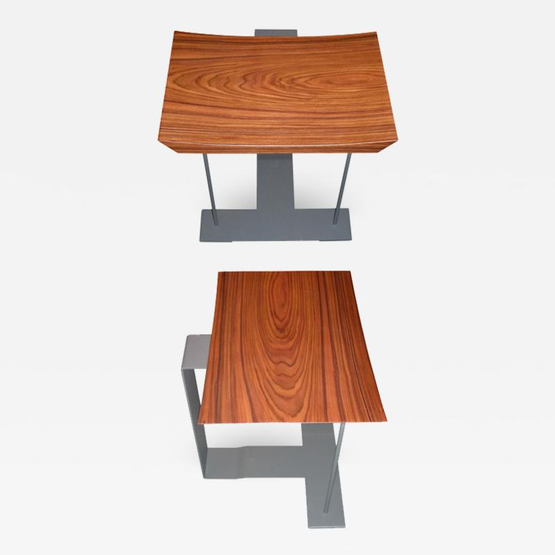 Pierre Chareau Two End of 20th Century T 1927 Stools by Pierre Chareau