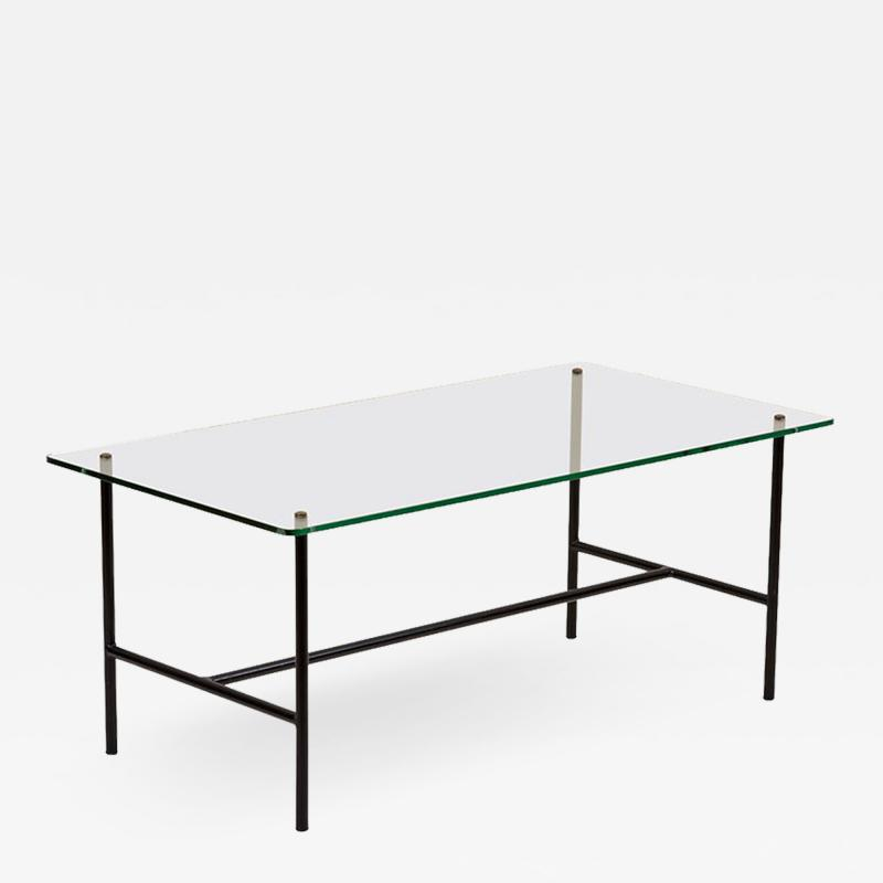 Pierre Guariche Glass Coffee Table by Pierre Guariche for Disderot France 1950s