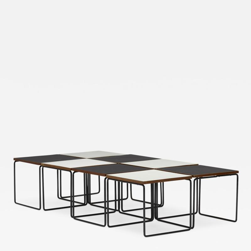 Pierre Guariche Volante occasional tables set of eight