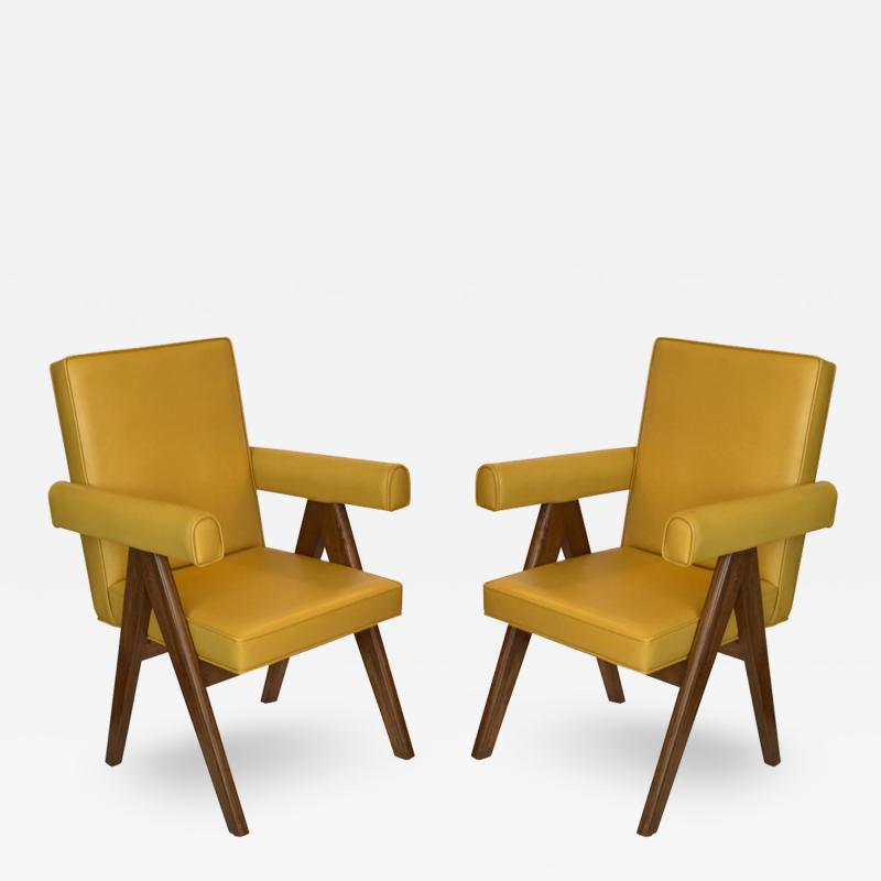Pierre Jeanneret Pair of Chandigarh Committee Chairs By Pierre Jeanneret