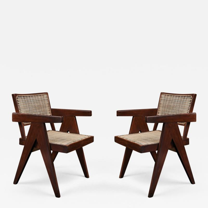 Pierre Jeanneret Pair of Pierre Jeanneret Office Chairs