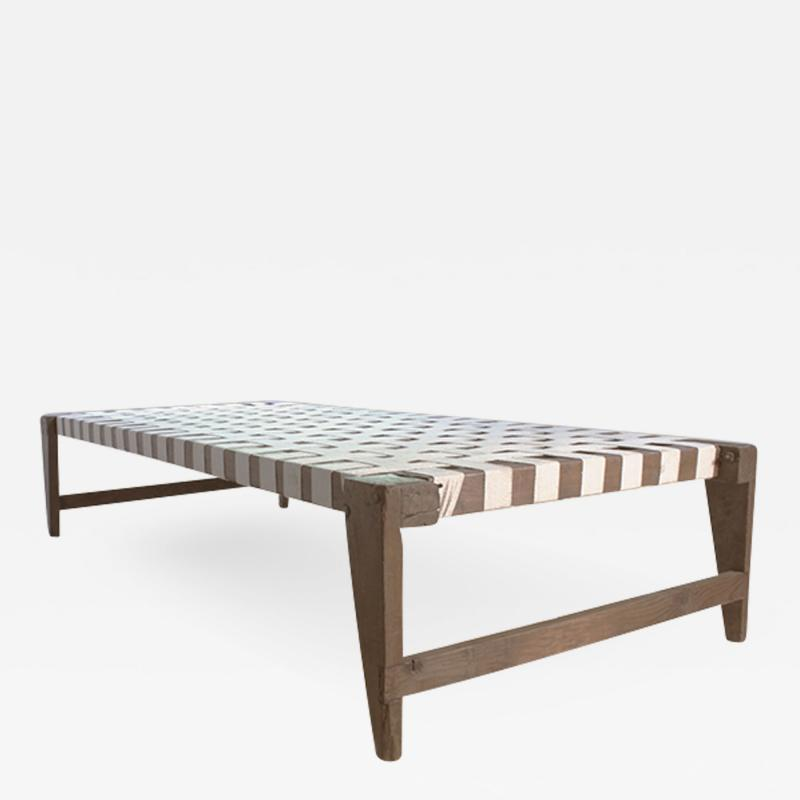Pierre Jeanneret Single bed without headrest ca 1955 1956