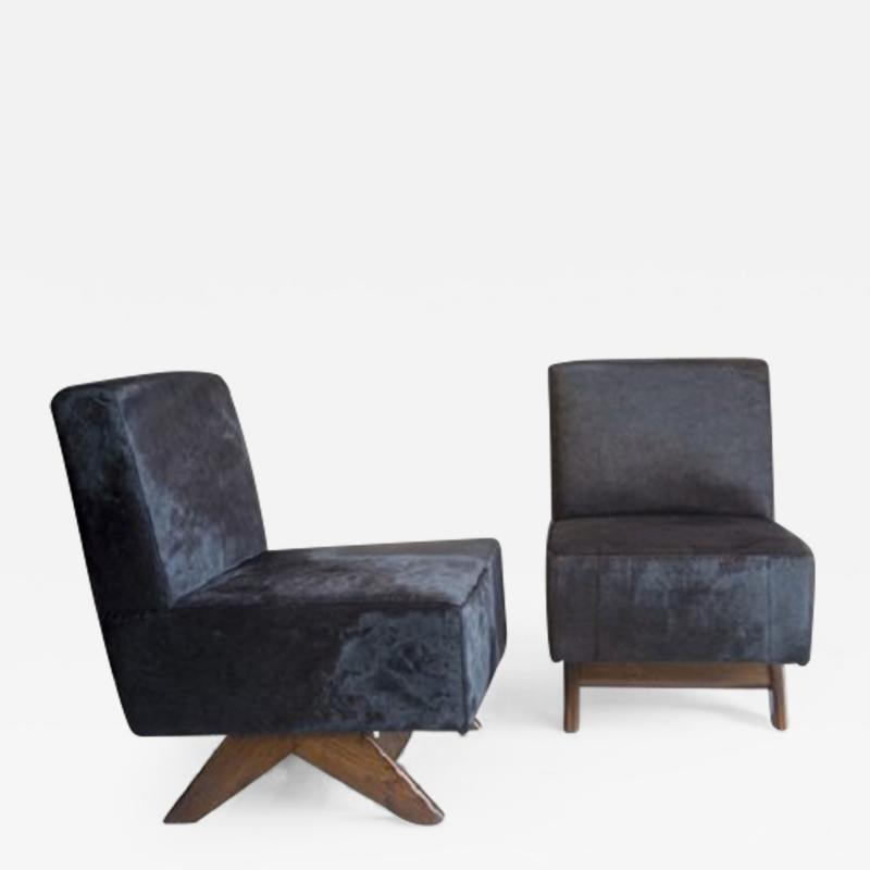Pierre Jeanneret Sofa chair with compass legs ca 1955