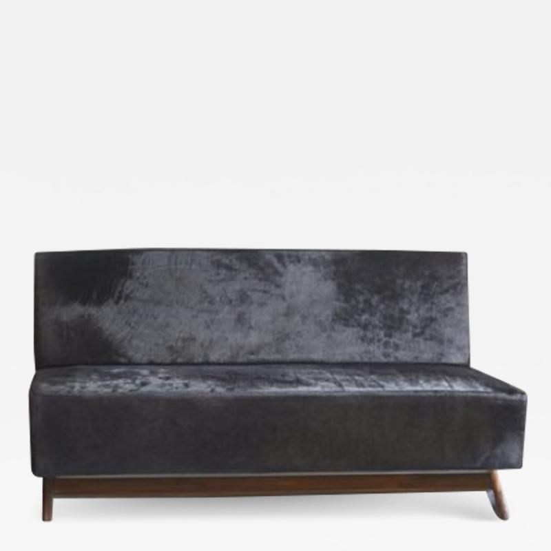 Pierre Jeanneret Sofa with compass legs ca 1955