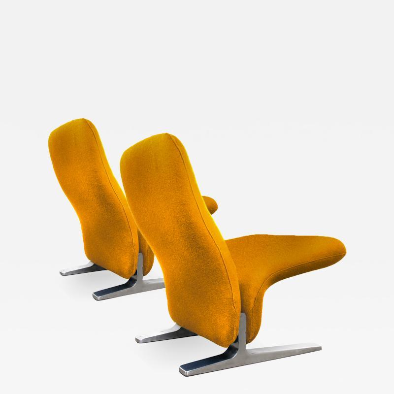 Pierre Paulin Dutch Lounge Chairs by Pierre Paulin for Artifort New Kvadrat Upholstery 1970s