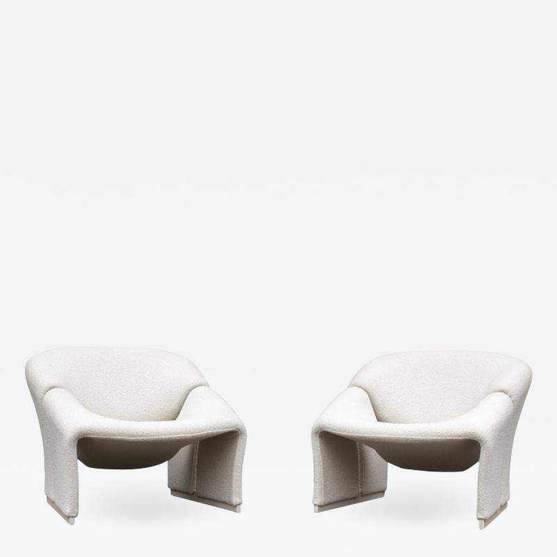 Pierre Paulin Pair of Pierre Paulin Lounge Chairs Early French Model F580 for Artifort