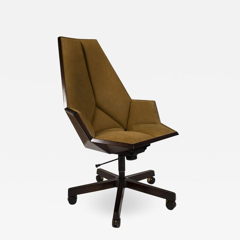 Pierre Paulin Pierre Paulin Executive Chair Model 1031 for Baker in Cane Mahogany Suede