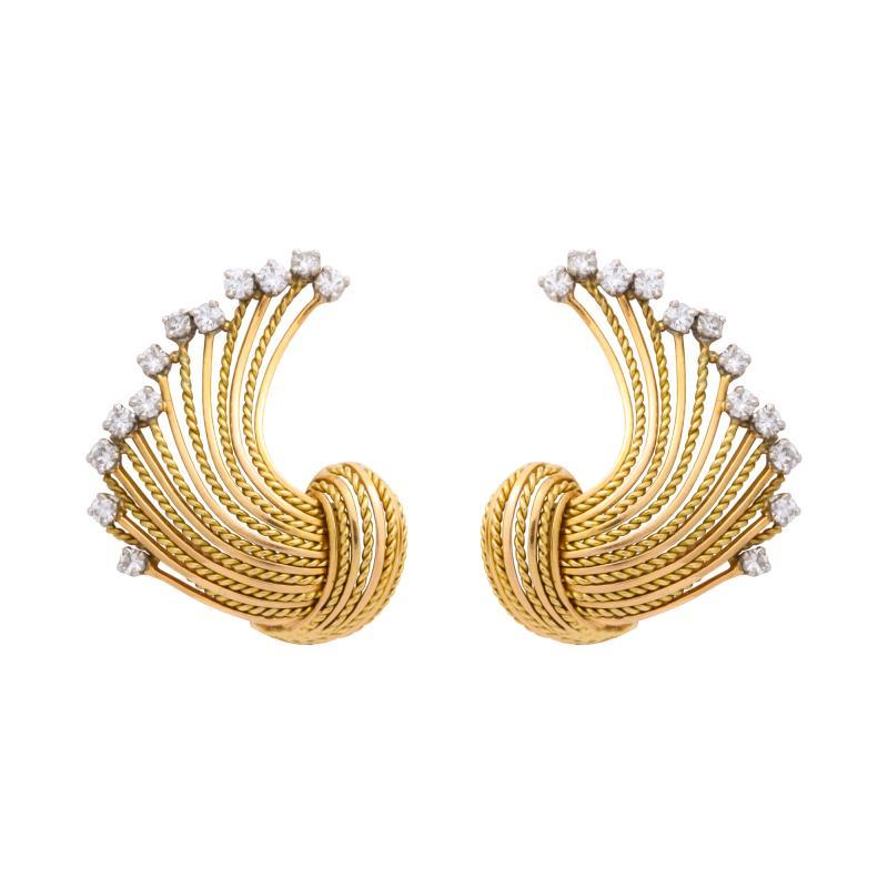 Pierre Sterl Diamond 18k Gold Earrings by Sterle