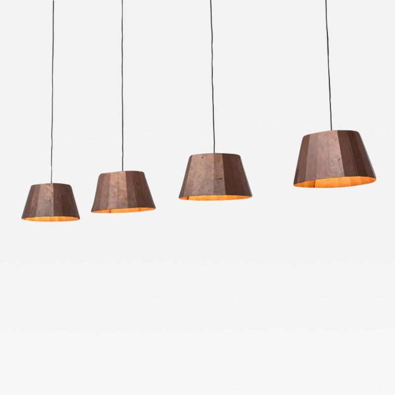 Piet Hein Pleated Copper Lamps by Piet Hein Eek