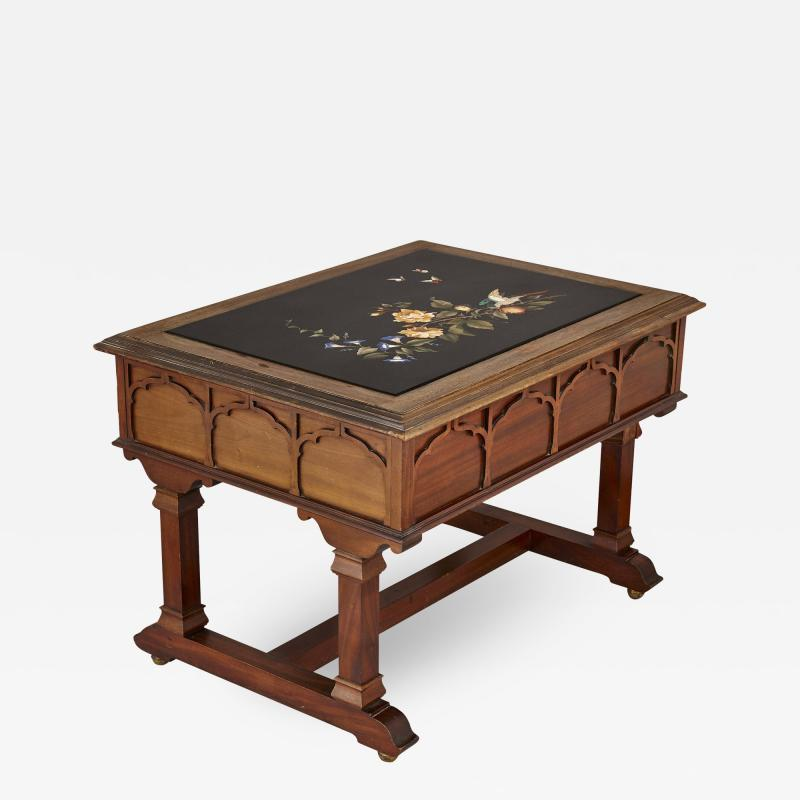 Pietra dura inlay Italian coffee table